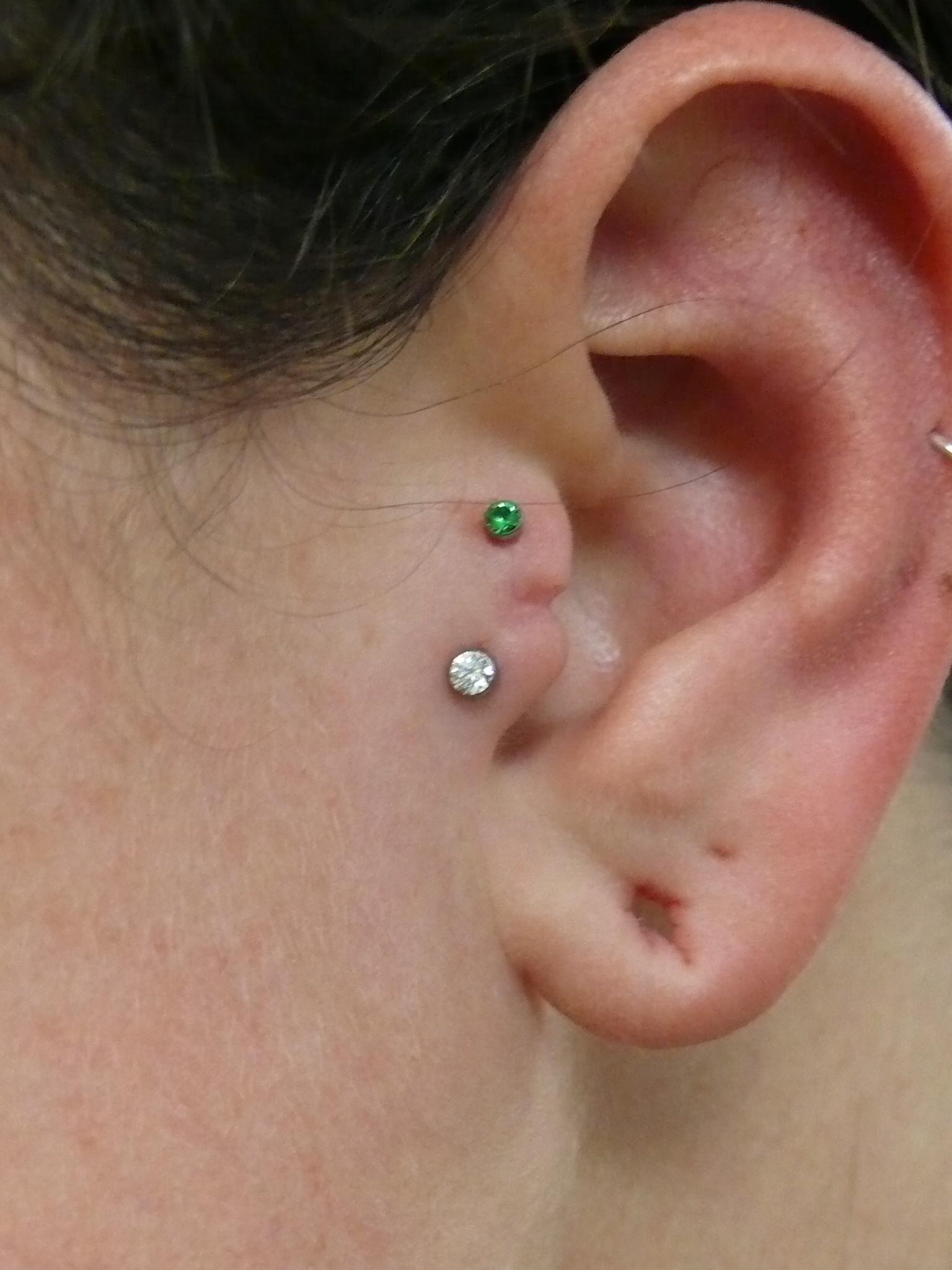 tragus-piercing-diamond | Piercing Croydon | Timebomb ...