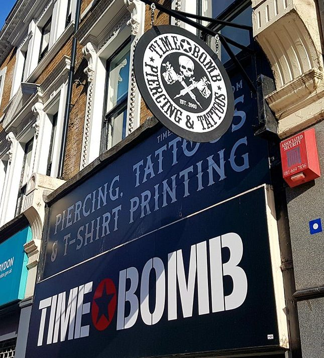 Timebomb Tattoo & Piercing, Croydon